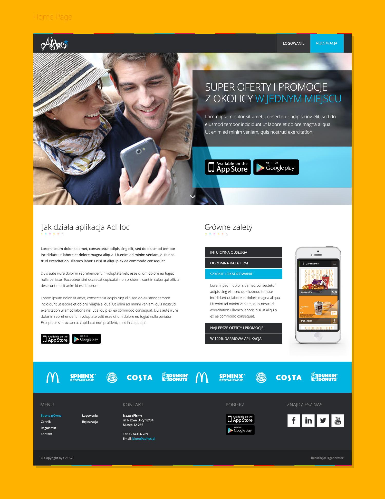 Adhoc strona www