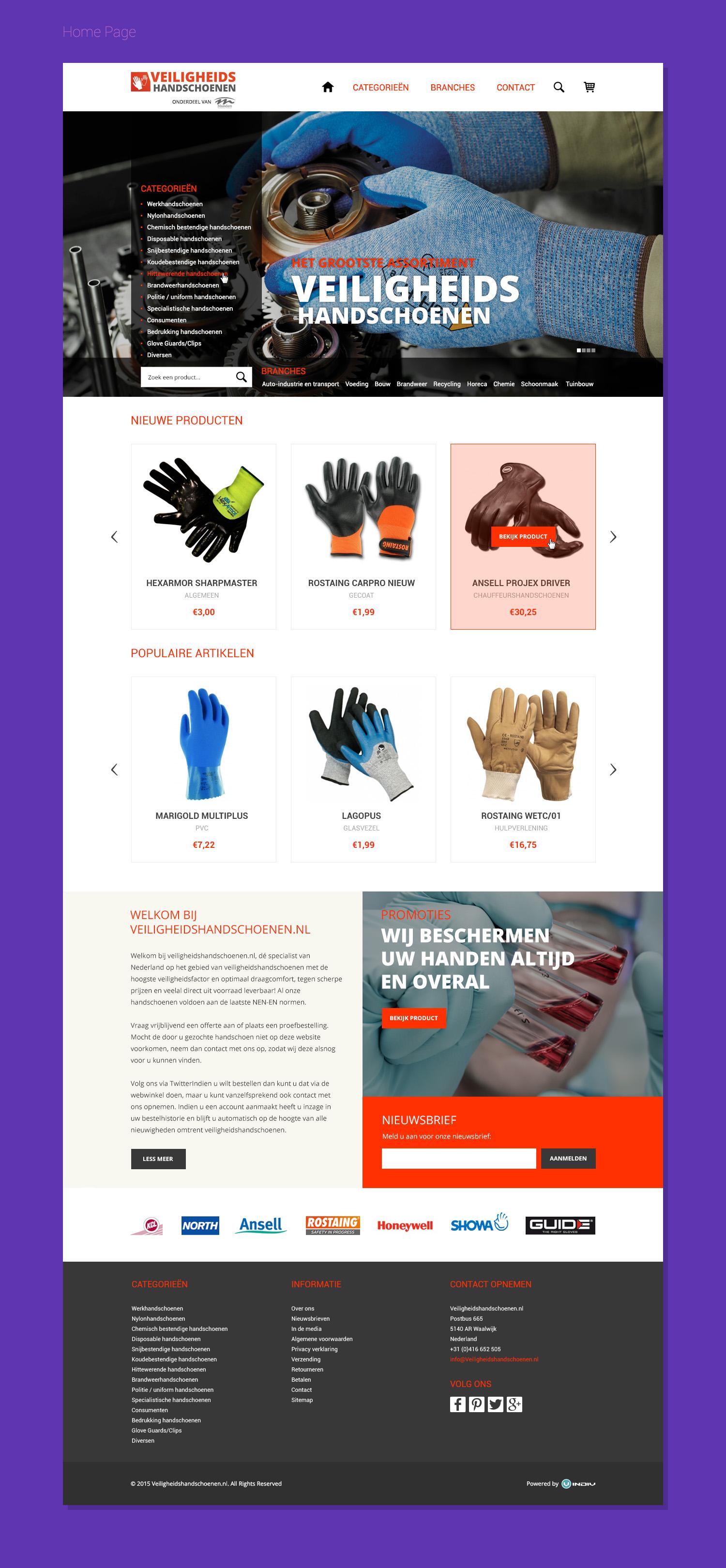 Veiligheids HandSchoenen www
