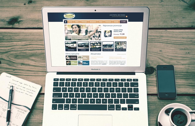 projekty stron internetowych